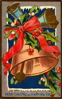Merry Christmas and Happy New Year Postcard 1909 PC53