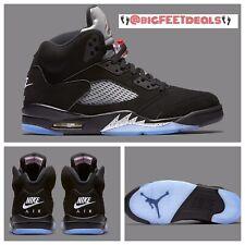 SIZE 16 Nike Air Jordan Retro 5 V OG Metallic Black BRED 845035-003