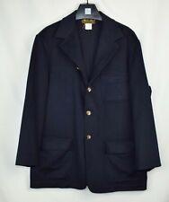 LORO PIANA $3495 Navy 100% Cashmere Unconstructed Jacket Collar Mens XL EU 54