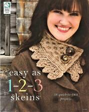 Easy As 1 2 3 Skeins  Knitting Pattern Book  58 Quick Knit Projects