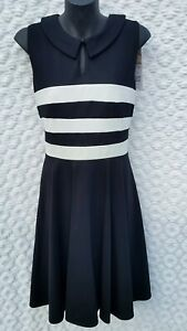 REVIEW - BLACK AND WHITE DRESS - Size 12 - NWT - ORIGINALLY $269.99 GORGEOUS!