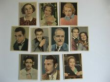 Lot 10 1936-38 OKEY Cigarrillos Tobacco Cards-Serie G-Period Movie Stars-RARE!