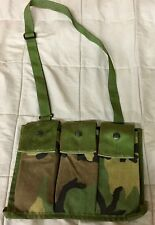 New USGI Woodland Camouflage 6 Mag Bandoleer MOLLE Military Surplus