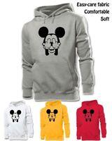 Mens Womens Disney Mickey Mouse Hands Over His Eyes Sweatshirt Hoodie Hoody Tops