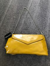 Sondra Roberts Yellow Envelope Style Clutch Handbag With Bow Detail. NWT. SR165