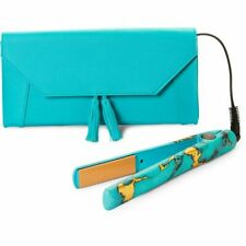"NEW! CHI Limited Edition 1"" Ceramic Hairstyling Iron Turquoise Glow Green Gold"