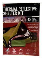 """Emergency Thermal Reflective Shelter Kit Green Double Sided 60"""" x 82"""""""