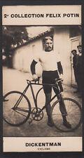 Friedrich Dickentman deutscher Radrennfahrer  CARD IMAGE 1907