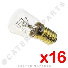 16x x LA25 E14 25W 240V TEMPERATURE ALTE 300°C PIZZA FORNO INTERNO LAMPADA VITE