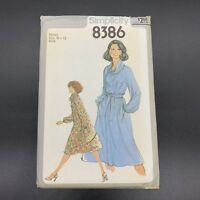 Simplicity Vintage Sewing Pattern #8386 Misses Dress in Sizes 10-12 New Uncut