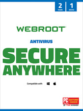 Webroot SecureAnywhere® Antivirus PC/Mac | 2 Anni 1 dispositivo - ORIGINALE
