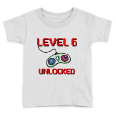 Level 6 Kids T-Shirt 6th Birthday Years Old Cute Present Top