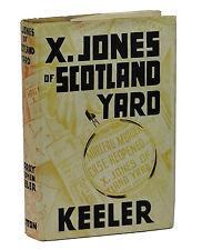 X. Jones of Scotland Yard HARRY STEPHEN KEELER ~ First Edition 1936 ~ 1st Weird