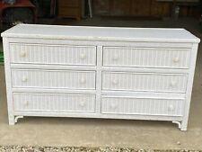 """Antique Lexington """"Henry Link"""" Wicker Twin Head/Footboard Dresser Mirror Pu Only"""