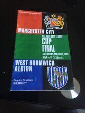 1970 Manchester City V West Bromwich League Cup Final Wembley Soccer Programme