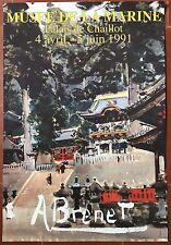 Affiche Exposition ALBERT BRENET Musée de la Marine *