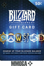 Battle.net Gift Card 50 EUR Código digital €50 EURO Blizzard BattleNet Code ES
