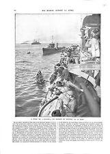 WWI Marine Nationale Cuirassé Gaulois Marins l'Ile aux Lapins B ILLUSTRATION