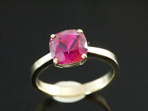 333 Gold  Ring mit Rubin Stein  Größe 54  Ringbreite 8 mm