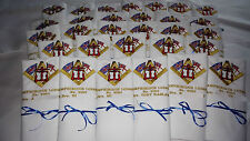 Freemason Embroidered Dinner Napkin with your specific Masonic Lodge Insignia