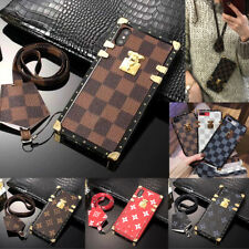 Checkered Grid Monogram Shockproof Soft TPU Phone Case Cover for iPhone Samsung