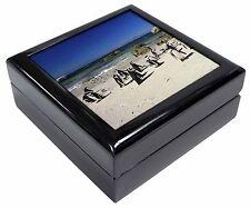 Beach Penguins Keepsake/Jewellery Box Christmas Gift, AB-89JB