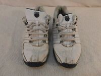 Adult Men's Limited Edition Vintage K-Swiss White 8 Tennis Athletic Shoes 33231