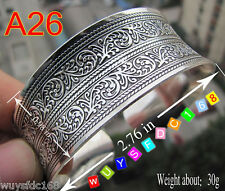 Beautiful! New style Tibetan Tibet Silver Totem Bangle Cuff Bracelet