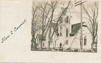ADAIR IA – M. E. Church Real Photo Postcard rppc - 1907