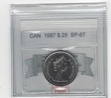 **1987**, Coin Mart Graded Canadian, 25 Cent, **SP-67**