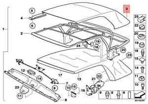 Genuine BMW E46 318Ci 320Cd 320Ci 323Ci Cover Folding Top Black 54318229839