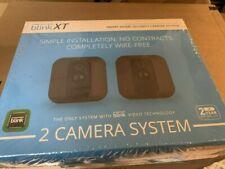 Blink XT Wire-Free Indoor Outdoor Security Camera Kit 2 Cameras + 1 Hub Black