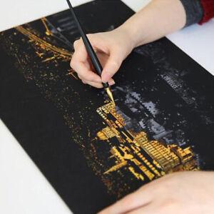 Multifunction Scratch Pen City Night View Metal Pen Gold-plated Art Supplies JH