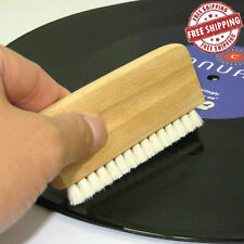 Wood Anti Static Goat Goat's Hair Record Brush Deep Cleaner Clean Vinyl Album