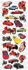 STICKER SHEET - Red Cars and Bikes 302  (2 pack)