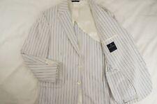 BROOKS BROTHERS Unlined Seersucker Cotton Blazer Sport Coat Lightweight - 38 S
