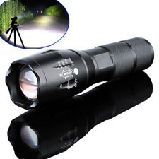Tactical XML T6 Zoomable LED Flashlight 18650 Battery Police Torch Lamp 10000LM