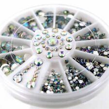 3D Nail Art Wheel Tips Crystal Glitter Rhinestone  Decoration any Color Acrylic