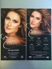 CELINE DION - 2 x LAS VEGAS FLYERS (AUG 2015 TO JAN 2016)