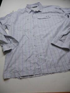 Under Armour Heat Gear Men's Size XL Long Sleeve Ivory Checks Button Up Shirt