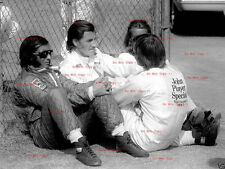Graham Hill & Ronnie Peterson & Emerson Fittipaldi F1 Portrait 1974 Photograph