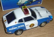 MODERN TOYS Highway Patrol Car Police Tin Battery Siren Box Masudaya Japan 4579