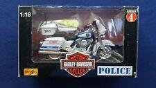 MAISTO DIECAST HARLEY DAVIDSON 1/18 SCALE  MOTORCYCLE MILWAUKEE POLICE DEPT