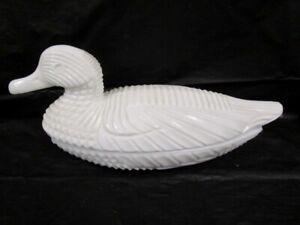 Atterbury Milk Glass   -   Duck ON NEST   -   Beautiful  -  1890's