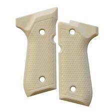 Custom Beretta 92 96 M9 Grips Ambidextrous Matte Faux Ivory