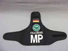 Bundeswehr:Armbinde:Feldjäger MP a.schwarz mit ISAFa. Klettfeld  6 cm. 1 Stück