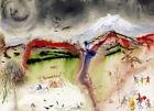 Salvador Dali  Seasons. Winter. canvas print giclee 8X12&12X17