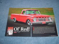 "1965 Ford F-100 Short Bed Pickup Resto-Rod Article ""Ol' Red!"""