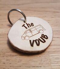 VW VOLKSWAGEN T4, T5, T6 WOODEN KEYRING, VDUB CAMPER VAN SURFVAN, CAMPING.