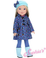 "Doll Clothes Coat, Boots, Top & Leggings For 14.5"" Wellie Wishers American Girl"